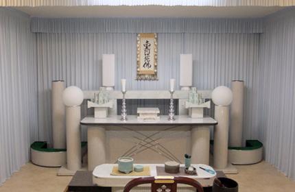 家族葬の祭壇画像